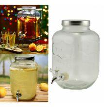 Party italadagoló üveg csapos 4 literes