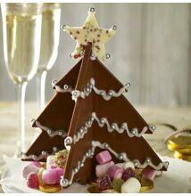 Csoki karácsonyfa forma ( piros )