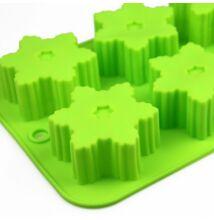 Zöld hópehely szilikon sütemény forma
