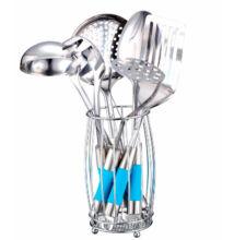 Rozsdamentes tálaló készlet 7 darabos  ( kék )