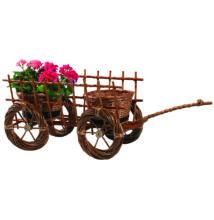 Szekér virágtartó világos 75 cm