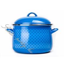 Bonyhádi zománcozott kék fazék 2Liter