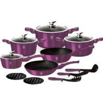Berlinger Haus 15 részes edényszett, Metallic Line Royal Purple Edition