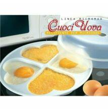 Tojás/omlett forma 4 alakzat mikróba