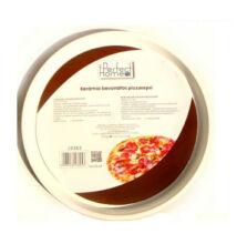 Kerámia bevonatos pizza sütő lap 33cm  ( Piros )