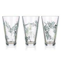 Oliva mintás üveg pohárkészlet 3darab