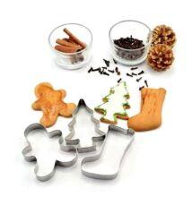 Karácsonyi sütemény kiszúró szett 3 darab