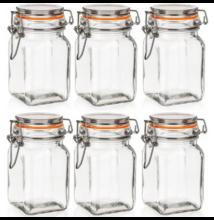 Lina csatos üveg tároló szett ( 250 ml) 6 db