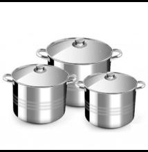 Rozsdamentes fazék készlet (9 - 11 - 13 liter)