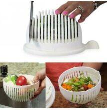 Salátaszeletelő-szűrő-tálaló