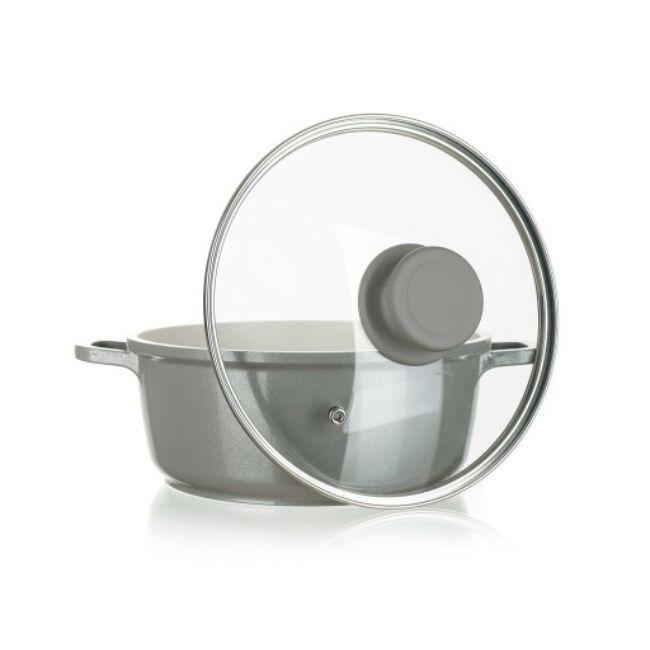 Alegria aluminium öntvény edény üvegfedüvel 2,3 liter