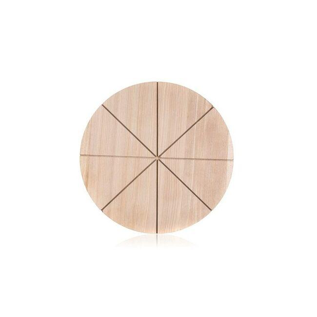 Fa pizza deszka szeletelős 32 cm