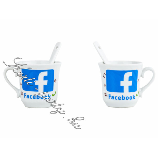 Facebook csésze készlet 4 darabos