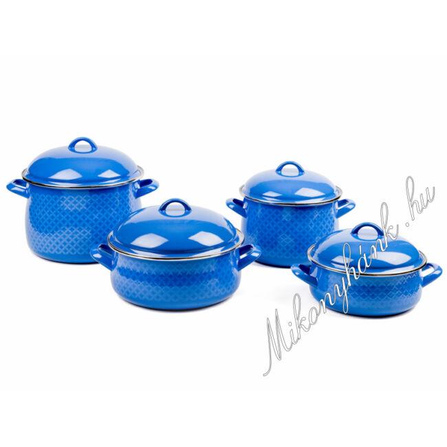 Bonyhádi zománcozott kék edényszett