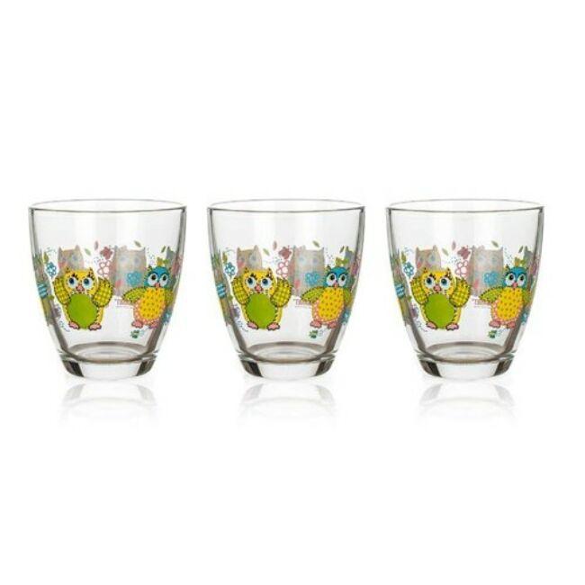 Bagoly pohár szett 3darab (210ml)