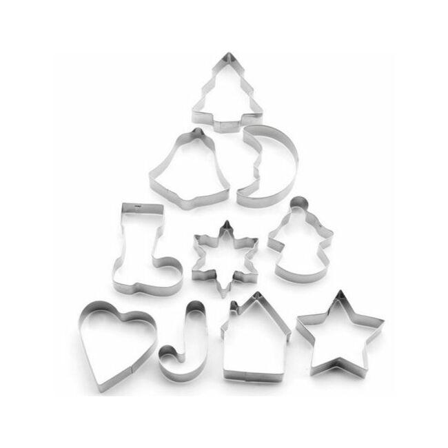 Karácsonyi süteménykiszúró készlet 10 darab