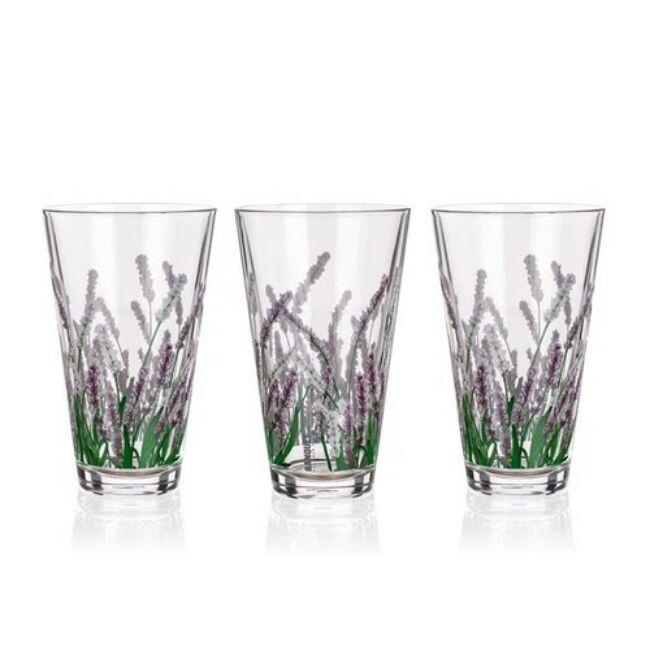 Levendula üvegpohár készlet (340ml)3darab