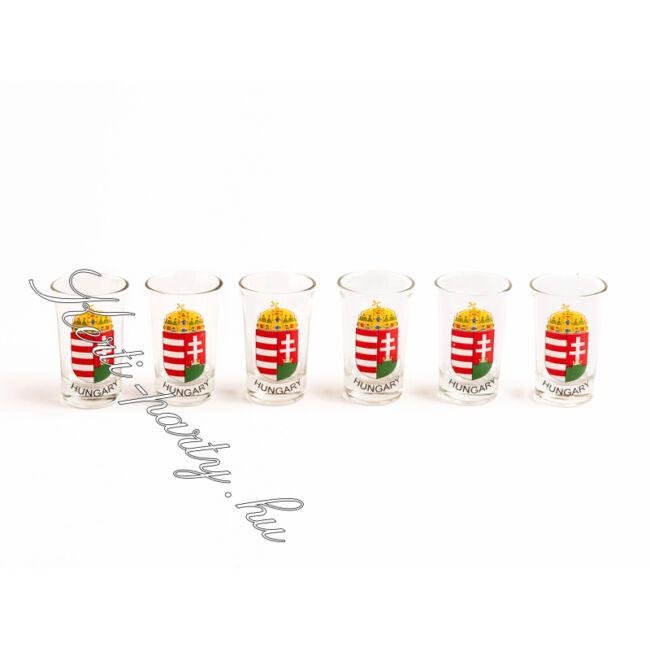 Pálinkás pohár készlet (2cl) 6darab