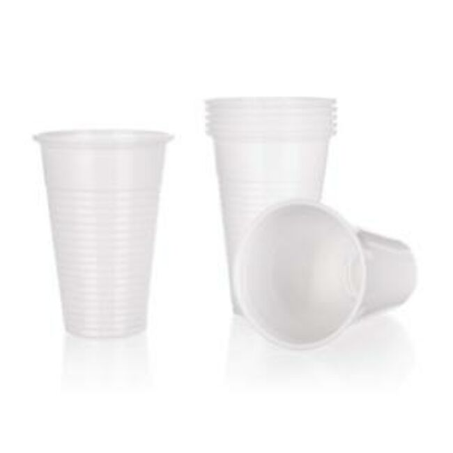 Műanyag fehér pohár 12db (300ml)