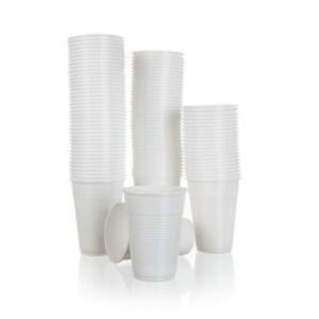 Műanyag fehér pohár  100db (200ml )