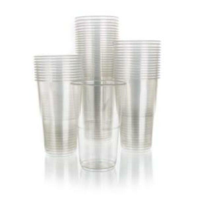 Műanyag átlátszó pohár 50db (500ml)
